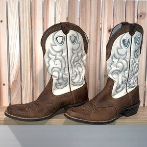 Ariat Ladies Size 8.5 Earth Rawhide Western Boots